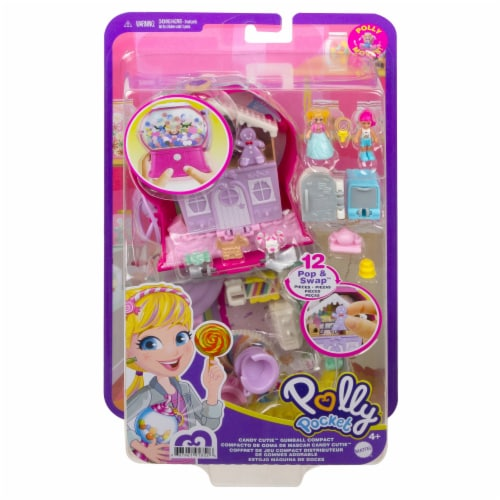 Mattel® Polly Pocket™ Candy Cutie Gumball Compact Playset Perspective: back