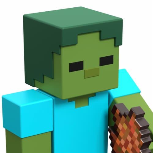 Mattel Minecraft Zombie Figure Perspective: back