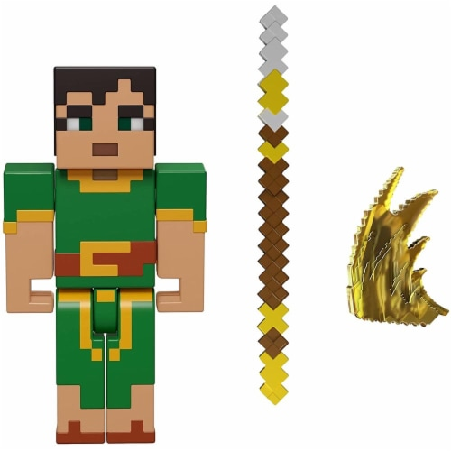 Minecraft Dungeons 3.25-in Collectible Jade Battle Figure and Accessories Perspective: back