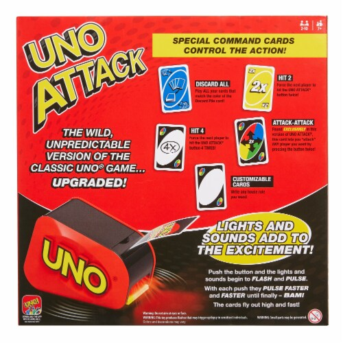 Mattel UNO Attack Card Game Perspective: back