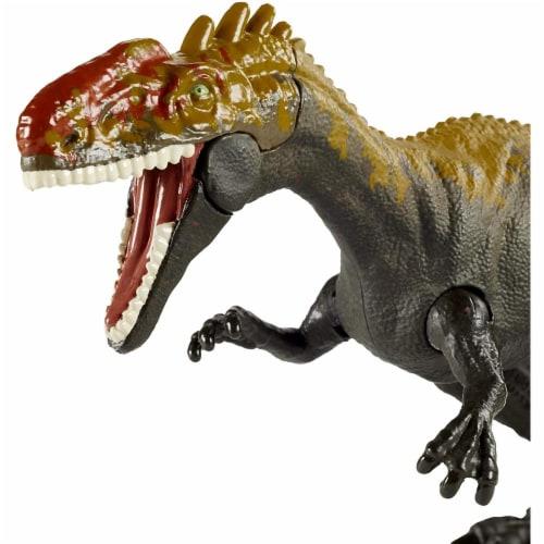 Jurassic World Camp Cretaceous Savage Strike Monolophosaurus Dinosaur Figure w/ Attack Move Perspective: back
