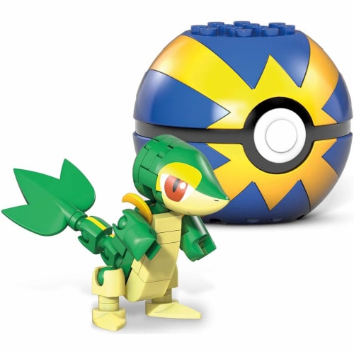 Mega Construx Pokemon Snivy Construction Set, Building Toys for Kids Perspective: back