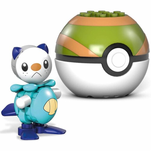 Mega Construx Pokemon Oshawott Construction Set, Building Toys for Kids Perspective: back