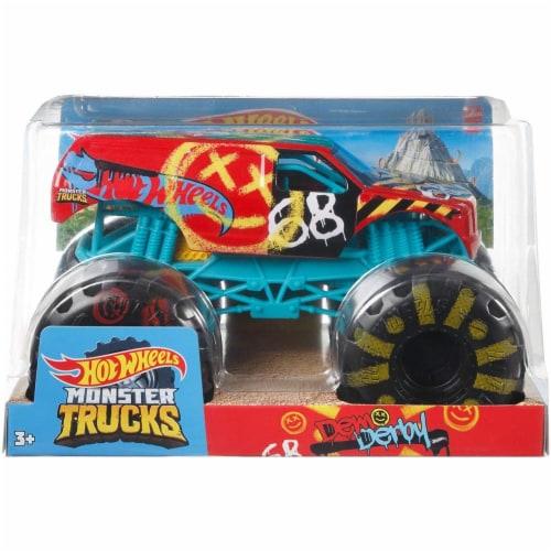 Mattel Hot Wheels® Monster Trucks Demo Derby Vehicle Perspective: back