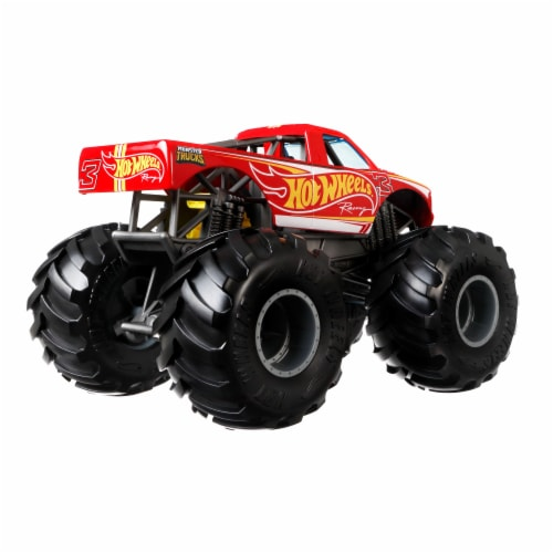 Mattel Hot Wheels® Monster Trucks Red Racing 3 Vehicle Perspective: back