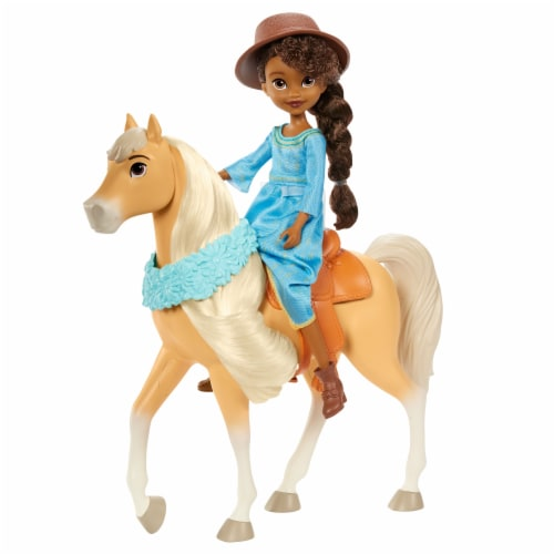 """Mattel Spirit Untamed Miradero Festival Prudence """"Pru"""" Granger & Chica Linda Doll Set Perspective: back"""