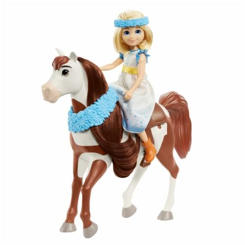 Mattel Spirit Untamed Miradero Festival Abigail & Boomerang Doll Set Perspective: back