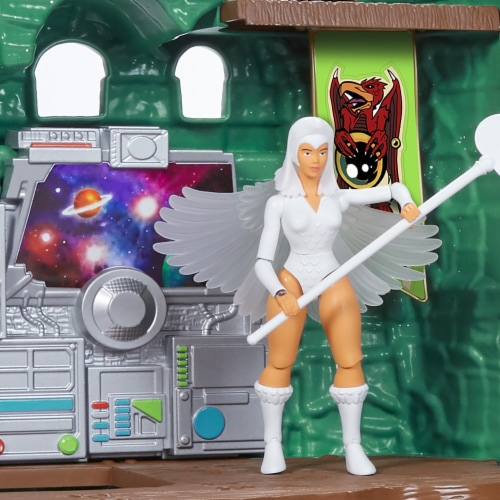 Mattel Masters of The Universe Origins Castle Greyskull Playset Perspective: back