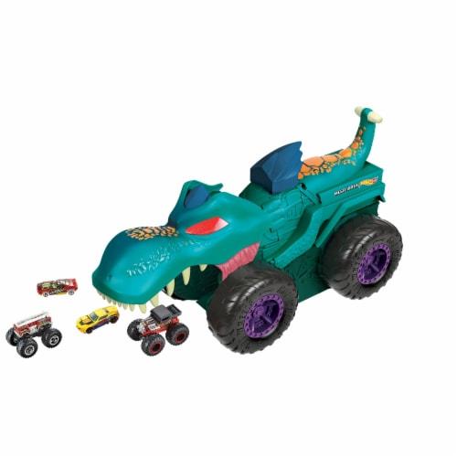 Mattel Hot Wheels Monster Trucks Car Chompin Mega-Wrex Vehicle Perspective: back