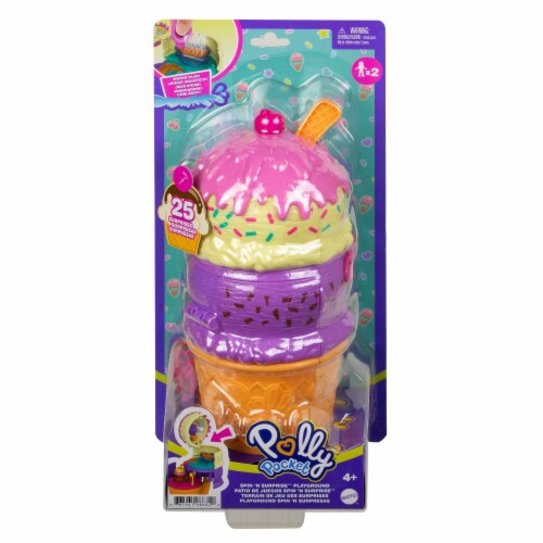 Mattel® Polly Pocket™ Spin 'N Surprise Playground Perspective: back