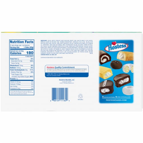 Hostess Spring Limited Edition Vanilla CupCakes Perspective: back