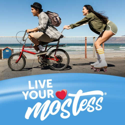 Hostess Snack Pack Powdered Donettes Donuts 8 Count Perspective: back