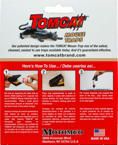 Tomcat® Mouse Snap Traps - Black Perspective: back