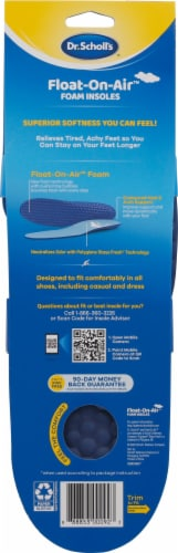 Dr. Scholl's Float on Air Men's Foam Insoles Perspective: back