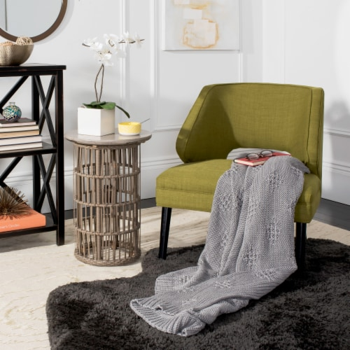 Cozy Knit Throw Grey Perspective: back