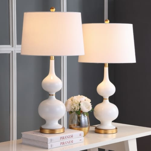 Myla Table Lamp White / Gold Leaf Perspective: back