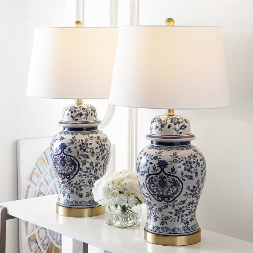 Ariadne Table Lamp Blue / White Perspective: back