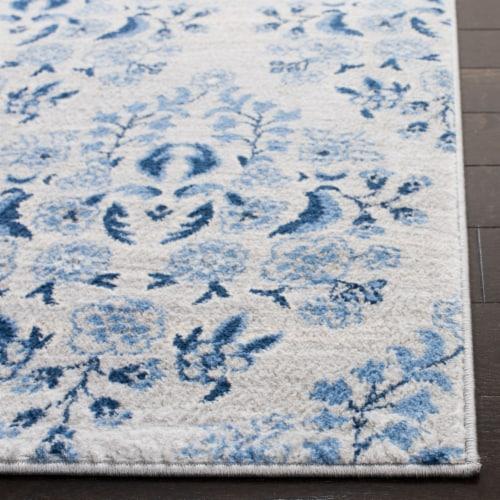 Safavieh Martha Stewart Brentwood Square Rug - Cream/Blue Perspective: back