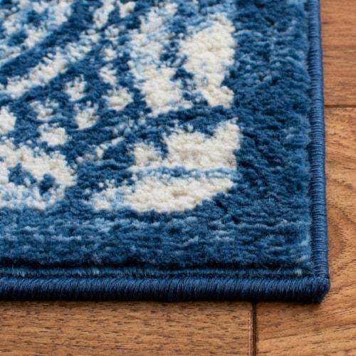 Safavieh Martha Stewart Brentwood Accent Rug - Cream/Navy Perspective: back