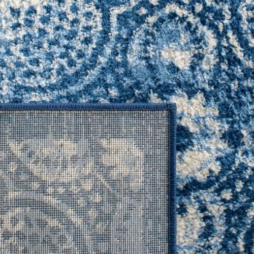 Martha Stewart Brentwood Rug - Navy/Creme Perspective: back