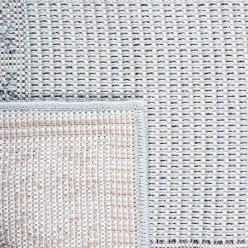 Safavieh Martha Stewart Courtyard Indoor Outdoor Area Rug - Aqua/Cream Perspective: back