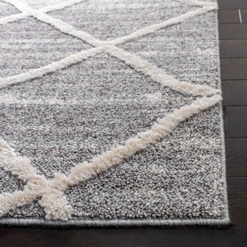 Safavieh Martha Stewart Lucia Shag Accent Rug - Light Gray/White Perspective: back