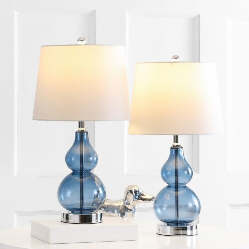 Brisor Table Lamps Blue / Chrome Perspective: back