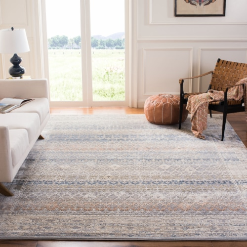 Martha Stewart Maze Cosmopolitan Area Rug - Cream/Gray Perspective: back