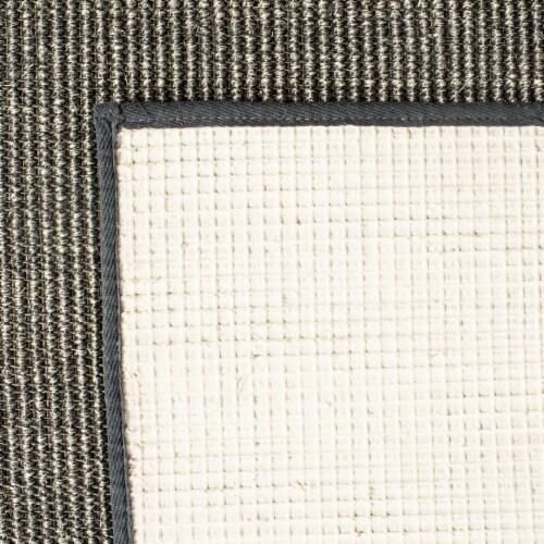Martha Stewart Natural Fiber Accent Rug - Charcoal Perspective: back