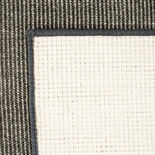 Martha Stewart Natural Fiber Area Rug - Charcoal Perspective: back