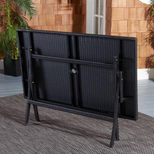 Akita Folding Table Black Perspective: back