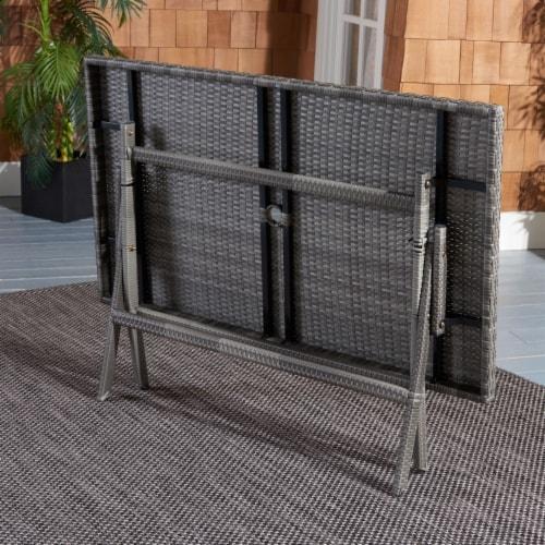 Akita Folding Table Grey Perspective: back
