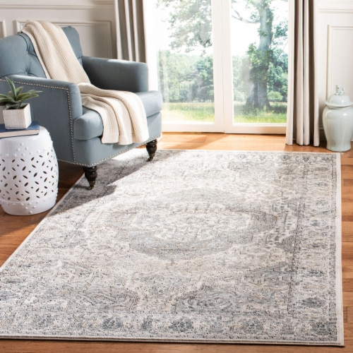 Martha Stewart Rancher Oregon Accent Rug - Ivory/Gray Perspective: back