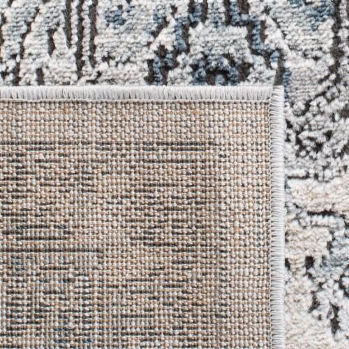 Martha Stewart Dacota Oregon Area Rug - Light Blue/Ivory Perspective: back