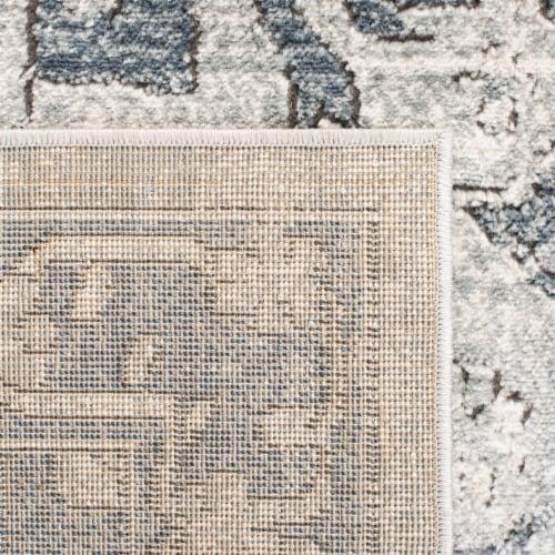 Martha Stewart Denver Oregon Floor Runner - Navy/Ivory Perspective: back