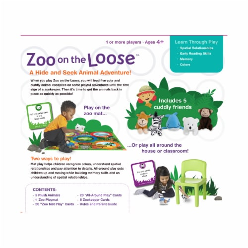 MindWare Zoo On the Loose Board Game Perspective: back
