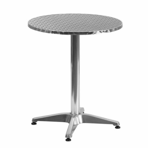 23.5'' Round Aluminum Indoor-Outdoor Table with Base Perspective: back