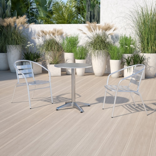 Flash Furniture TLH - 052 - 1 - GG 23.5 in. Round Aluminum Indoor - Outdoor Perspective: back