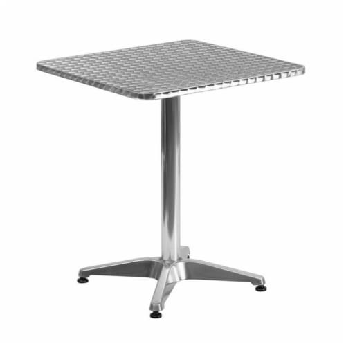Flash Furniture TLH - 053 - 1 - GG 23.5 in. Square Aluminum Indoor - Outdoor Perspective: back