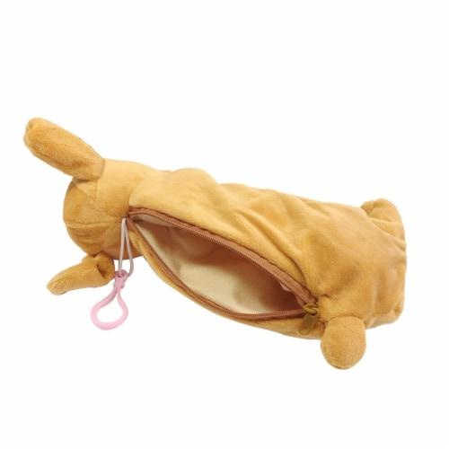 Wrapables Cute Puppy Pouch Plush Pencil Case, Gold Retriever Perspective: back