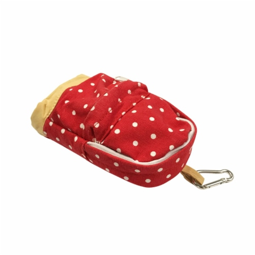 Wrapables Mini Backpack Pencil Case Pouch, Red Perspective: back