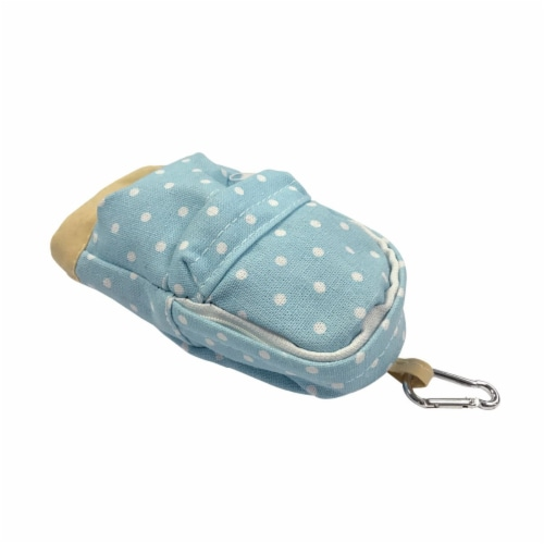 Wrapables Mini Backpack Pencil Case Pouch, Blue Perspective: back