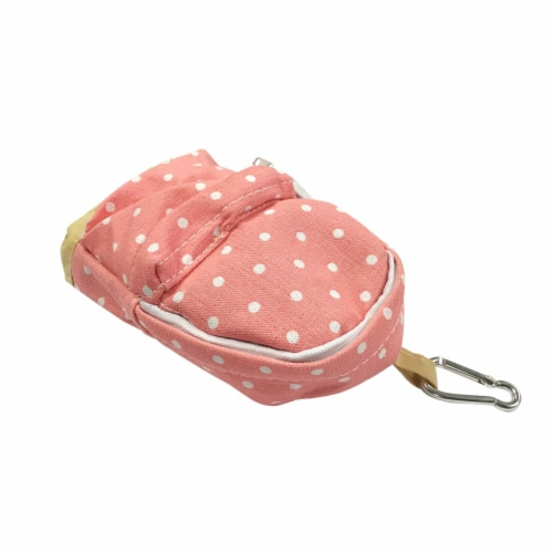 Wrapables Mini Backpack Pencil Case Pouch, Pink Perspective: back