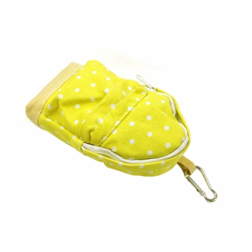 Wrapables Mini Backpack Pencil Case Pouch, Yellow Perspective: back