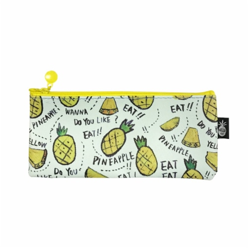 Wrapables Trendy Food Pencil Case and Stationery Pouches (Set of 3), Yellow Perspective: back