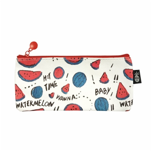 Wrapables Trendy Food Pencil Case and Stationery Pouches (Set of 3), Watermelon Perspective: back