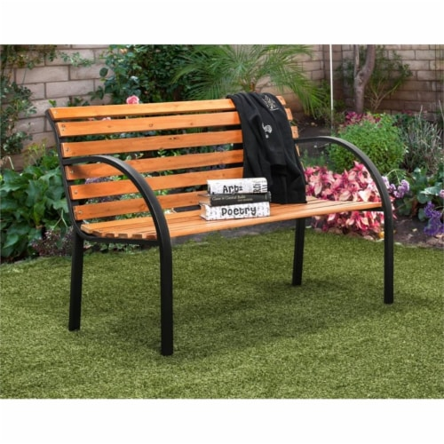 Jordy Traditional Patio Bench in Black - Furniture of America Perspective: back