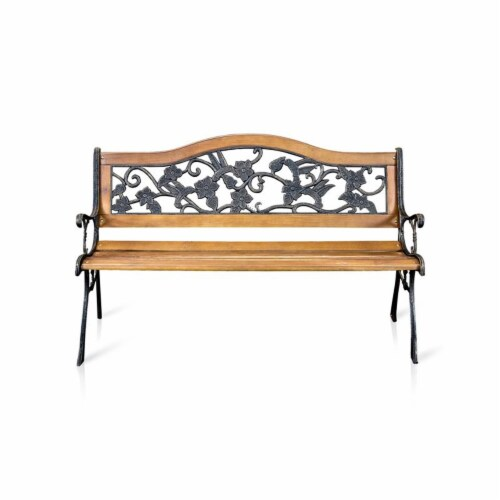 Jardy Patio Bench in Black - Furniture of America Perspective: back