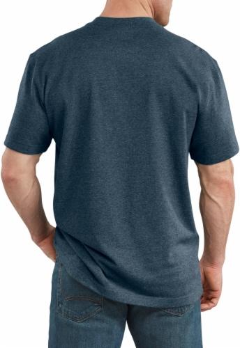 Dickies Men's Short Sleeve Heavyweight T-Shirt - Baltic Blue Heather Perspective: back