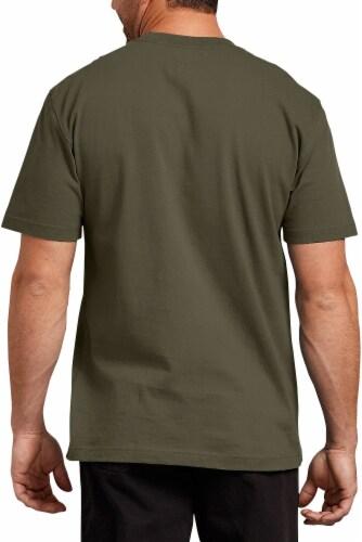 Dickies Men's Short Sleeve Heavyweight T-Shirt - Military Green Perspective: back
